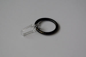 Vintage Black Curtain Ring Hooks Ø30mm (Pack of 10)