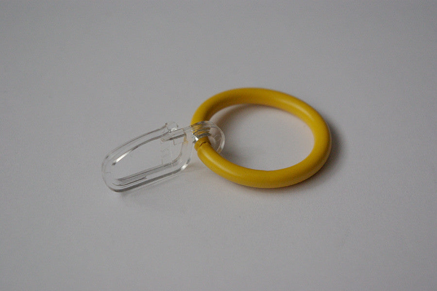 Yellow Curtain Ring Hooks Ø30mm (Pack of 10)