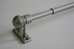EXTENDABLE Curtain Rail Pole - Antique Silver / Chrome 37cm - 60cm