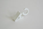 Plastic Curtain Clips with Rotatable Hook - White Ø10mm (Pack of 30)