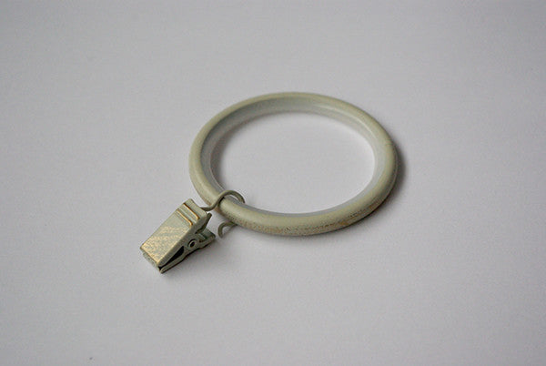 Silent Curtain Ring Clips - Vintage White Ø60mm / Ø45mm (Pack of 10)
