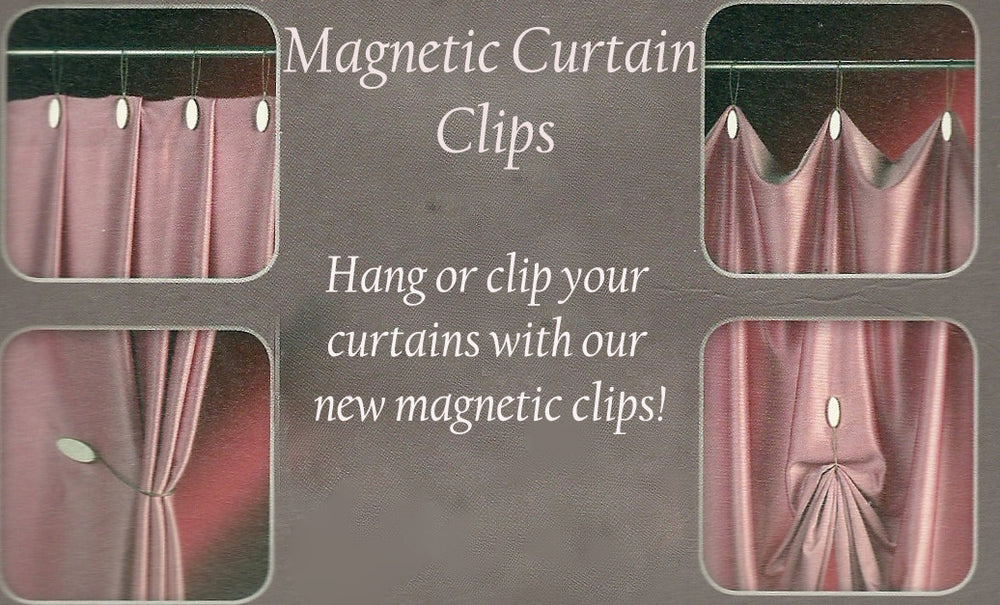 Round Crystal Magnetic Clips and Tie Backs - Silver (Pack of 2) - GNTS Decor