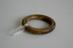 Wooden Curtain Rings with Hooks Ø55mm / Ø30mm - Brown (Pack of 10) - GNTS Decor