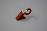 Plastic Curtain Clips with Rotatable Hook - Teak Ø10mm (Pack of 30)