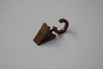 Plastic Curtain Clips with Rotatable Hook - Dark Oak Ø10mm (Pack of 30)