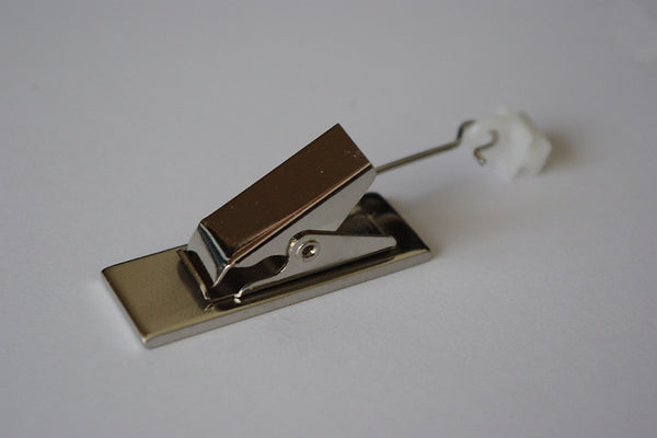 Exclusive Silver Curtain Clips for Tracks (Pack of 8)