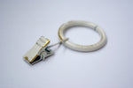 Vintage White Curtain Ring Clips Ø30mm (Pack of 10)