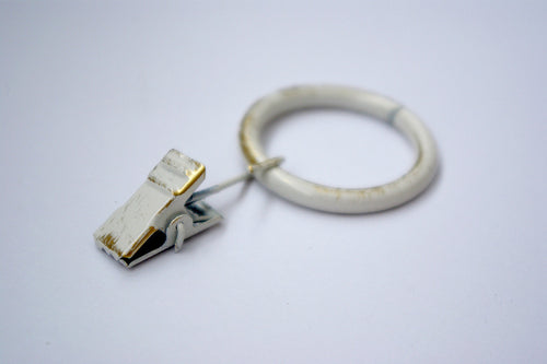Vintage White Curtain Ring Clips Ø30mm (Pack of 10) - GNTS Decor