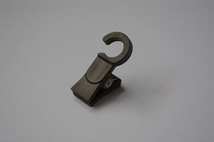 Plastic Curtain Hook Clips - Brown Ø10mm (Pack of 25) - GNTS Decor