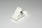 Plastic Curtain Hook Clips - White Ø10mm (Pack of 25) - GNTS Decor