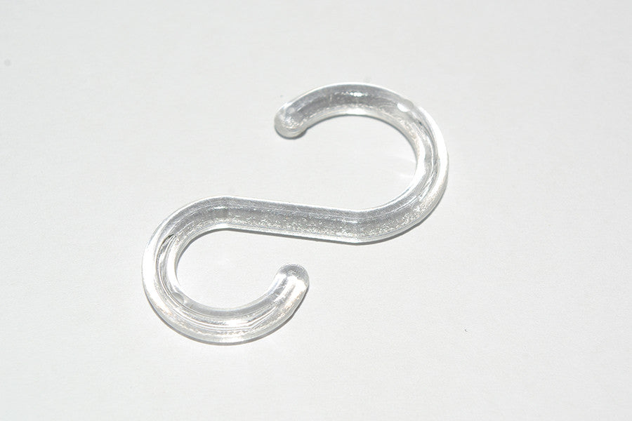 Plastic Curtain Hooks - Clear Ø15mm / Ø10mm (Pack of 30) - GNTS Decor