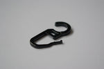 Plastic Curtain Hooks - Black Ø10mm (Pack of 50)