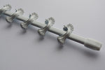 EXTENDABLE Curtain Rail Pole - White 100cm - 140cm