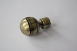 Curtain Pole Finials – Ball - Bronze / Silver / Stainless Steel Ø16mm (Pack of 2)
