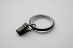 Silent Curtain Ring Clips - Black Ø35mm (Pack of 10)