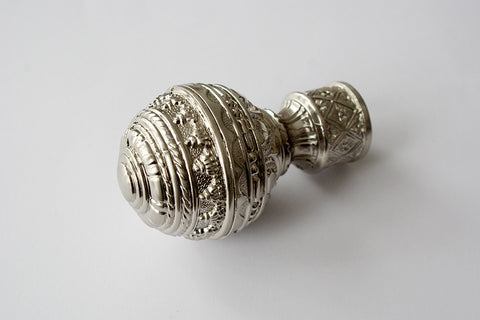 Curtain Pole Finials – Ancient - Bronze / Silver / Shiny Chrome / Copper Ø25mm (Pack of 2)