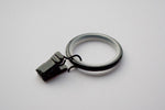 Silent Black Curtain Ring Clips (Pack of 10)