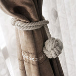 Curtain Tiebacks - Braided Cotton Rope 58cm
