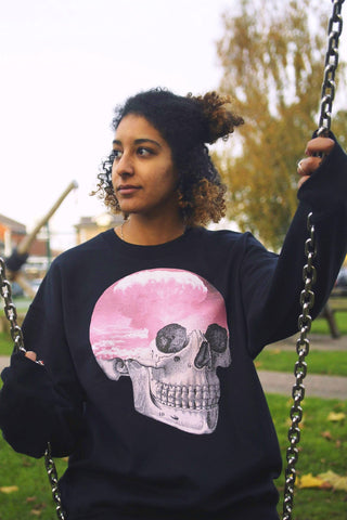 Atomic Cloud Pink Skull Sweater