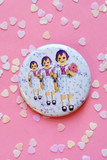 Beetle Triplets Doll Large Button Badge