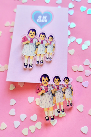 Beetle Doll Triplets Pin Badge