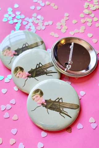 Darcy Hopper Doll Large Button Badge