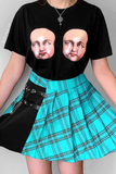 Creepy Doll Faces Black Graphic Tee