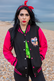 Dragon Club Hot Pink Varsity Jacket