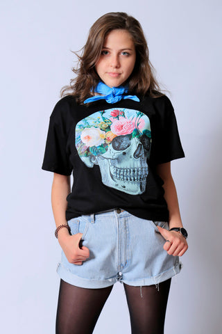 Garden Floral Black Graphic Tee
