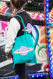 Planet Purple Candy Emerald Tote Bag