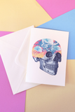 Jellyfish Skull Greeting Card Lemon