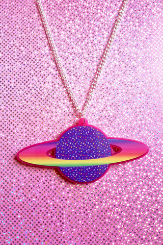 Planet Candy Acrylic Necklace