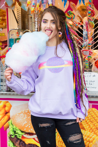 Planet Purple Candy Sweater