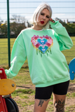 Unicorn Club Mint Oversized Sweater
