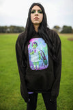 Lucy And The Creature Black Oversized Hoodie