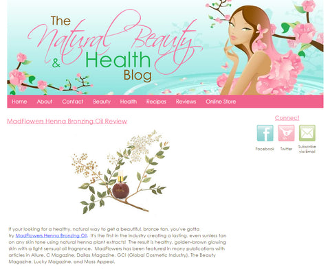 Natural Beauty Blog Home Page