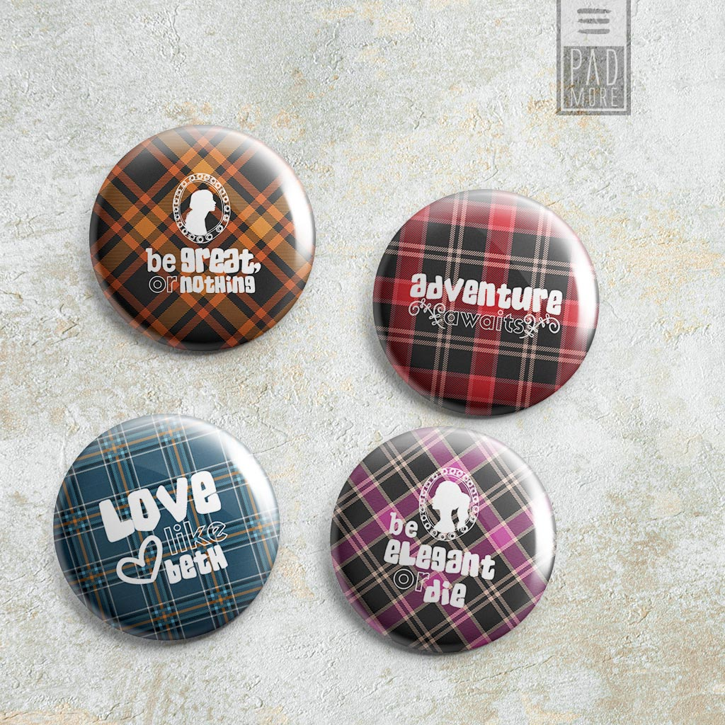 Little Women Pin-Back Buttons