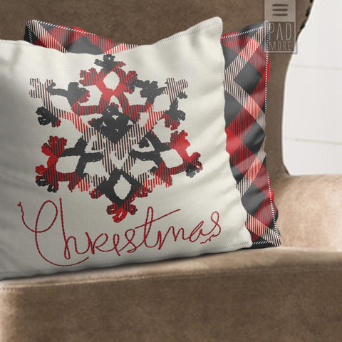 Cabin Christmas Pillow