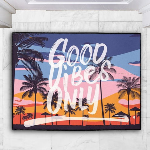 Good Vibes Only Floor Mat