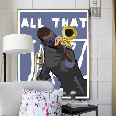 Trombone Showcase Wall Art