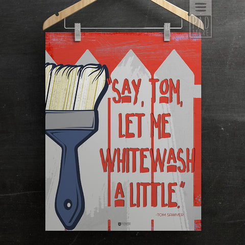 Tom Sawyer Whitewash Wall Art