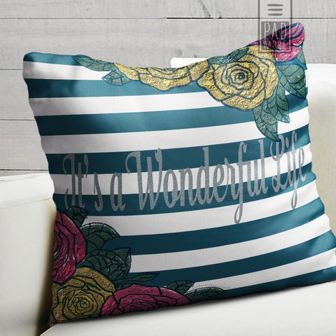 Julia Arenas It's a Wonderful Life Pillow