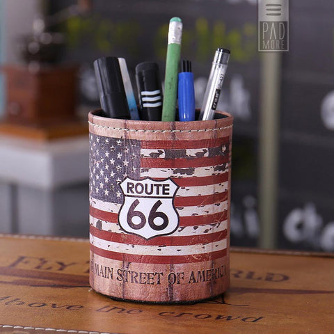 Route 66 Leather Pen Holder