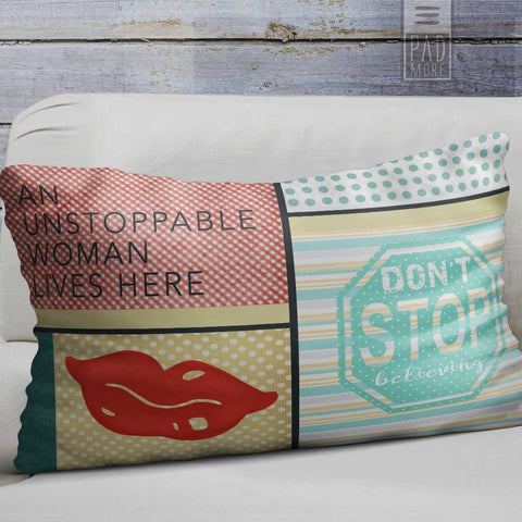 Unstoppable Woman Lives Here Pillow