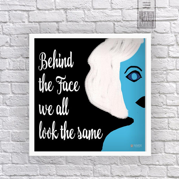 Look Behind the Face Wall Art