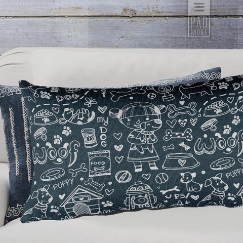 Dog Doodles Rectangular Pillow