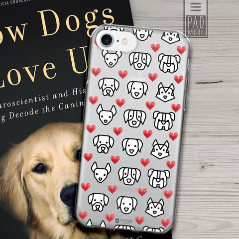 Love for Dogs Clear Phone Case