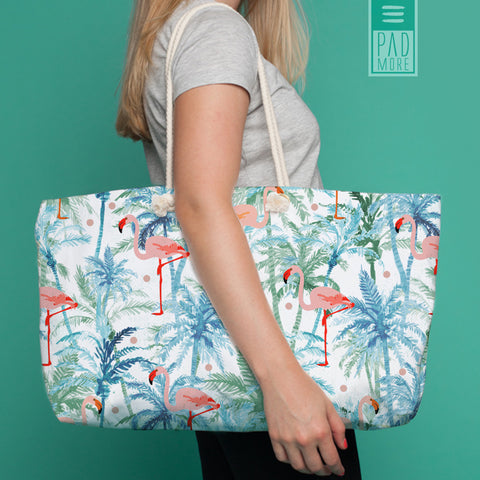 Flamingo on Palms Weekender Tote