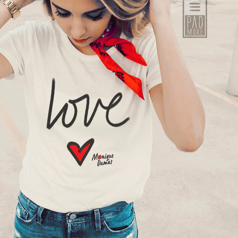 Love is All Around White Tshirt