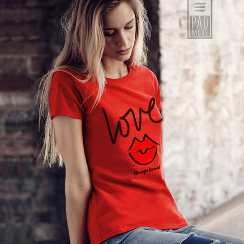 Love is All Around Red Tshirt